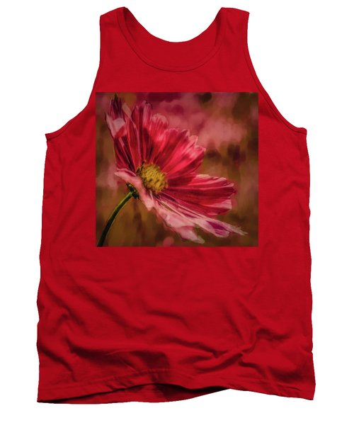 Aster Red Painterly #h1 Tank Top