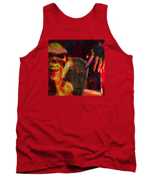 At Night In The Graveyard Tank Top by LemonArt Photography