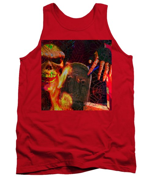 At Night In The Graveyard Tank Top