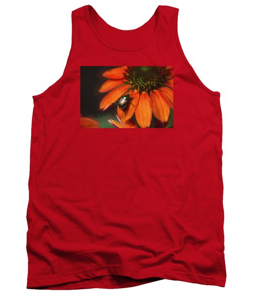 Attraction To Red Tank Top by John Rivera