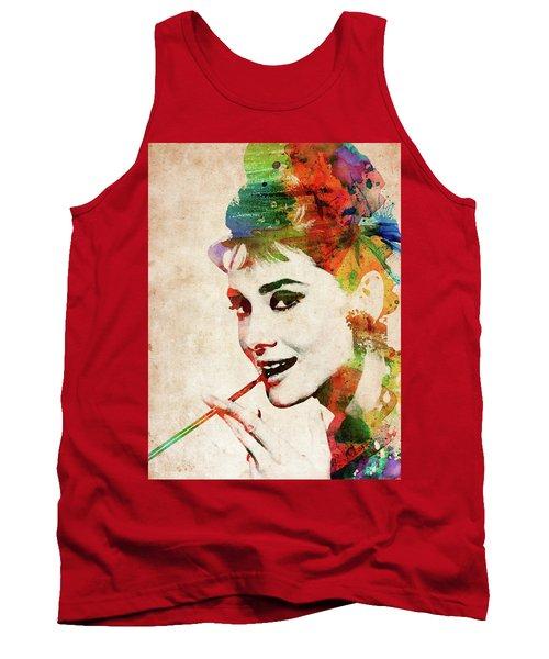 Audrey Hepburn Colorful Portrait Tank Top