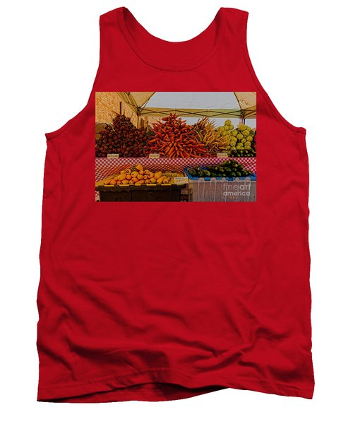 Tank Top featuring the photograph August Vegetables by Trey Foerster