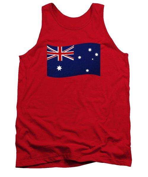 Australian Flag Waving Png By Kaye Menner Tank Top by Kaye Menner