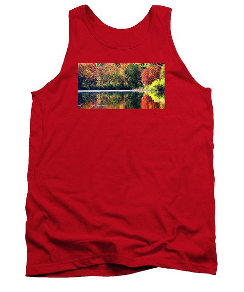 Tank Top featuring the photograph Autumn At Laurel Lake by Angela Davies