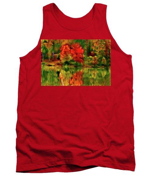Autumn At The Lake-artistic Tank Top