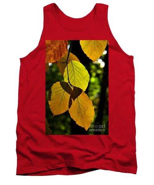 Autumn Beech Tree Leaves Tank Top