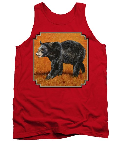 Autumn Black Bear Tank Top by Crista Forest