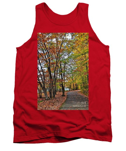 Tank Top featuring the photograph Autumn Bliss by Gina Savage