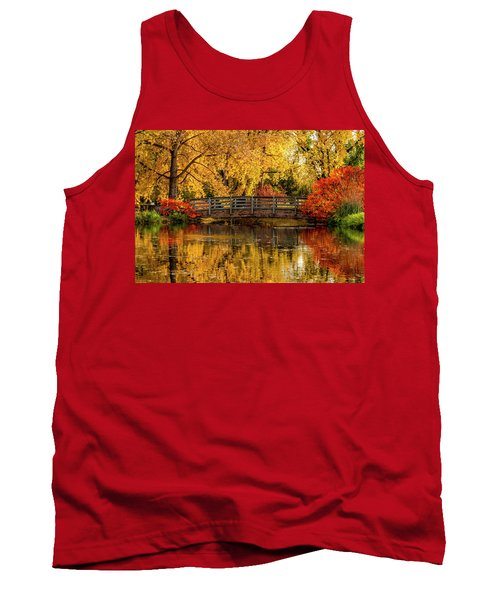 Autumn Color By The Pond Tank Top