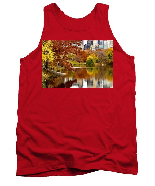 Autumn Colors In Central Park New York City Tank Top by Sabine Jacobs