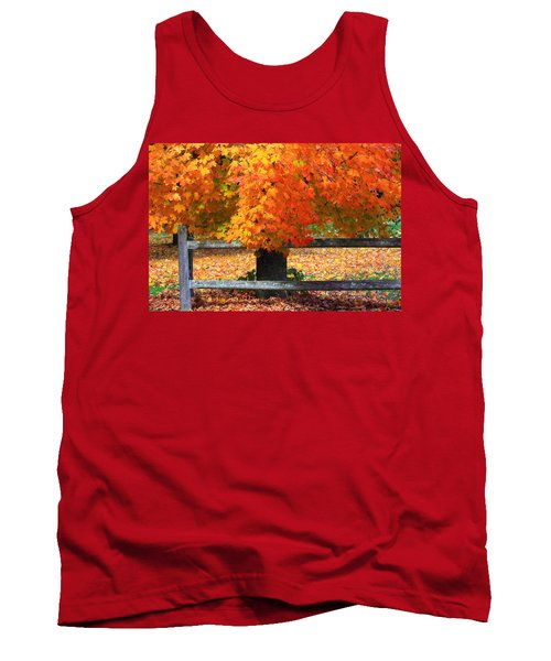 Autumn Fence Tank Top