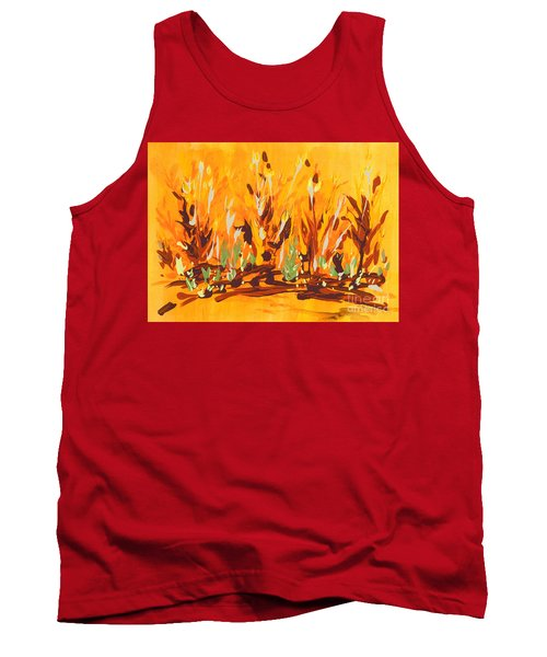 Tank Top featuring the painting Autumn Garden by Holly Carmichael