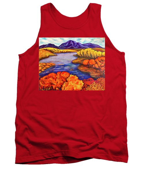 Autumn Hues Tank Top by Rae Chichilnitsky