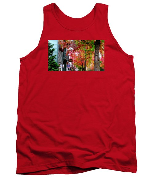 Tank Top featuring the photograph Autumn In Fairhaven by Karen Molenaar Terrell