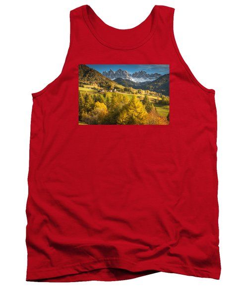 Autumn In The Alps Tank Top