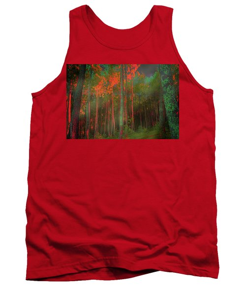 Tank Top featuring the photograph Autumn In The Magic Forest by Mimulux patricia no No