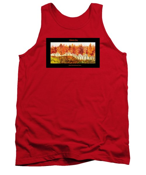 Tank Top featuring the painting Autumn Joy by Suzanne Canner