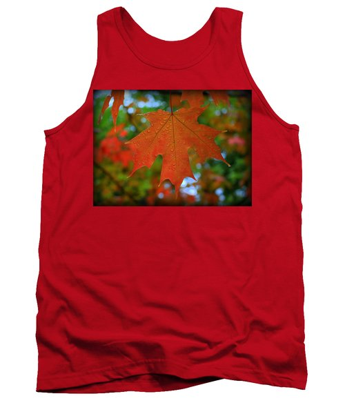 Autumn Leaf In The Rain Tank Top