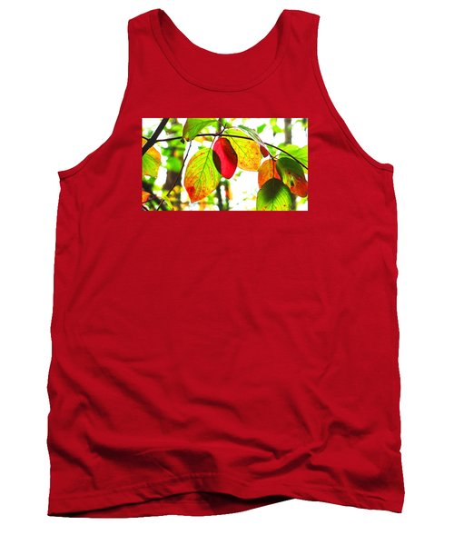 Tank Top featuring the photograph Autumn Leaves At Lake Padden by Karen Molenaar Terrell