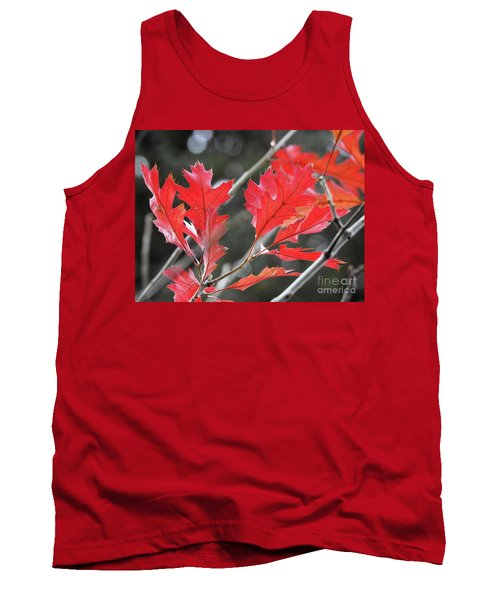 Tank Top featuring the photograph Autumn Leaves by Peggy Hughes