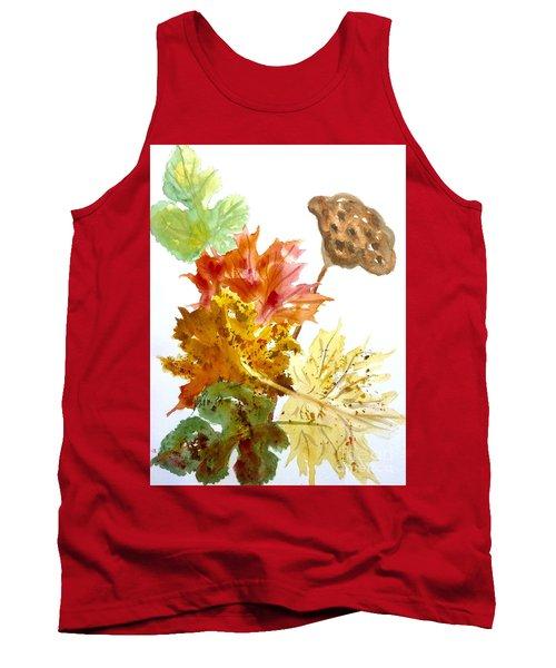 Autumn Leaves Still Life Tank Top by Ellen Levinson