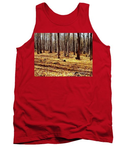 Autumn Leaves Tank Top by Vicky Tarcau