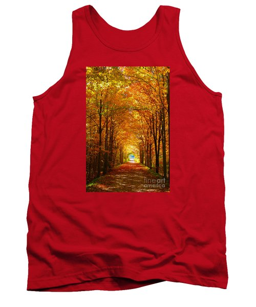 Autumn Light And Leaf Painting Tank Top