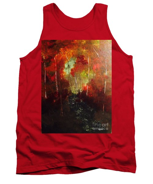 Tank Top featuring the painting Sunset Trail by Denise Tomasura
