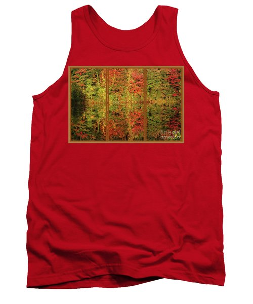 Autumn Reflections In A Window Tank Top by Smilin Eyes  Treasures