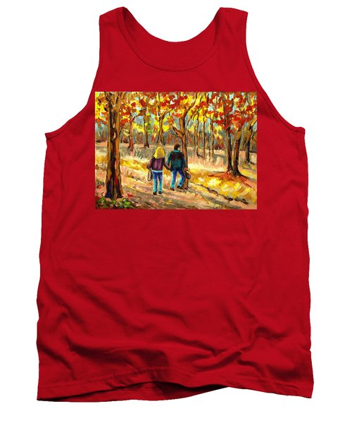 Autumn  Stroll On Mount Royal Tank Top