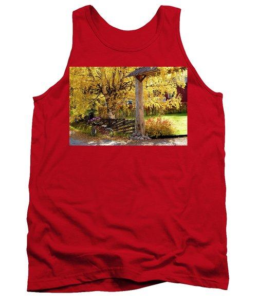 Rural Rustic Autumn Tank Top