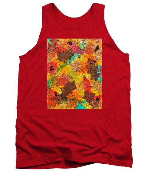 Autumn Leaves Underfoot Tank Top