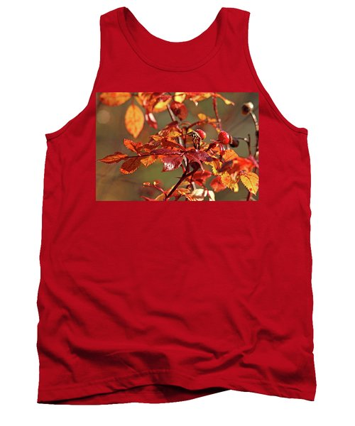 Autumn Wild Rose Hips Tank Top