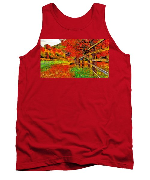 Autumnal Blaze Of Glory Tank Top