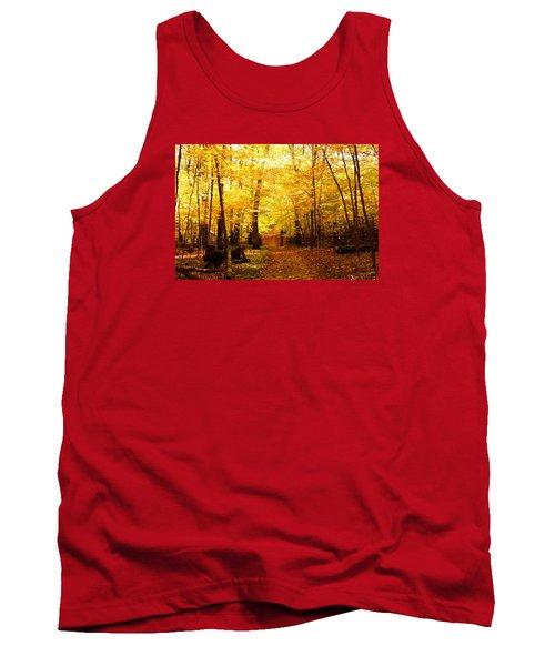 Tank Top featuring the photograph Autumns Blaze by Steven Clipperton