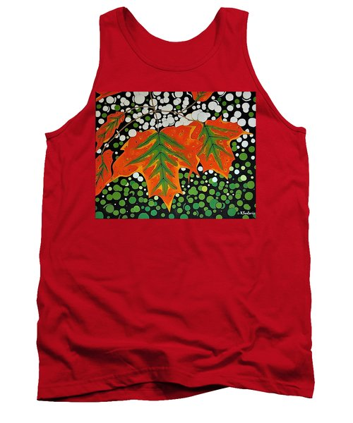 Tank Top featuring the painting Autumns Kiss by Kathleen Sartoris