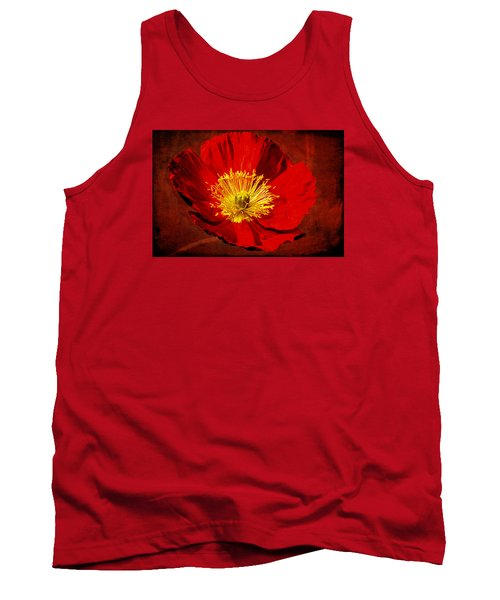 Tank Top featuring the photograph Awake To Red by Phyllis Denton