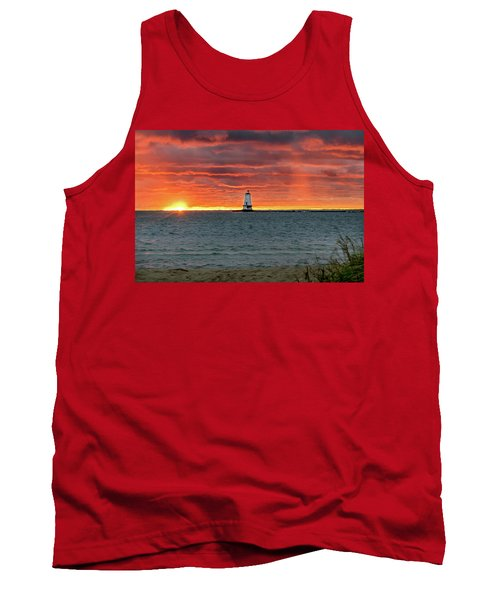 Awesome Sunset With Lighthouse  Tank Top