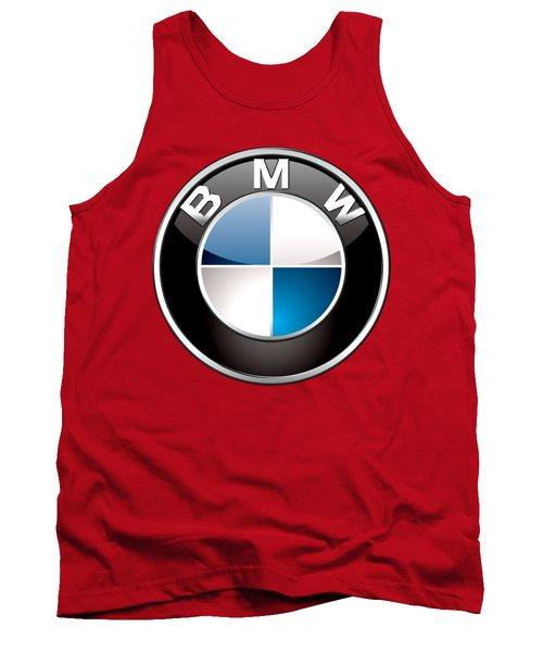 B M W Badge On Red  Tank Top