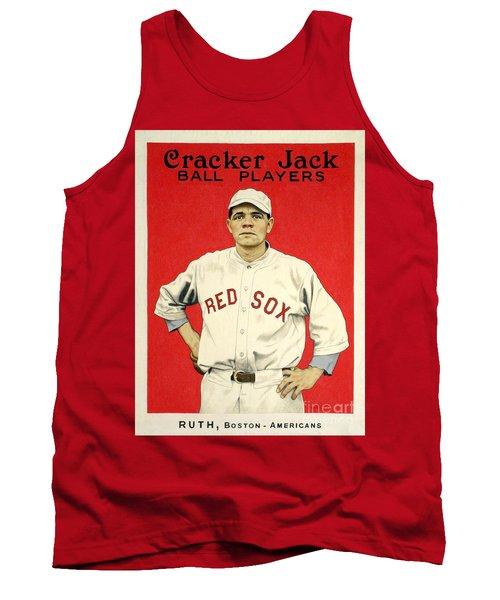 Babe Ruth Cracker Jack Card Tank Top