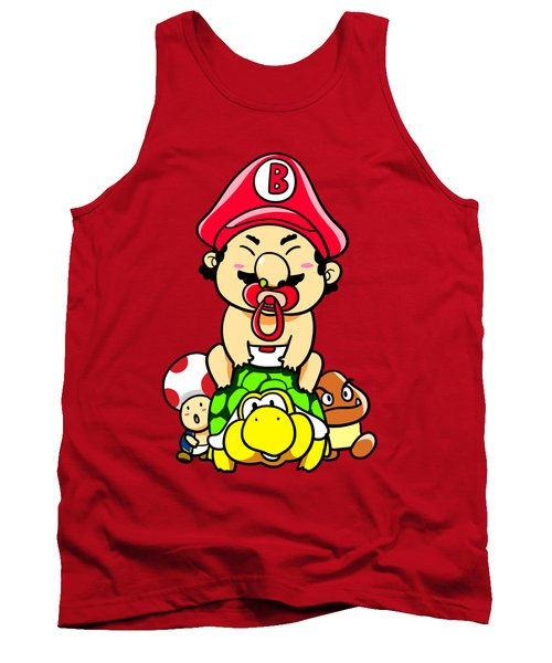 Baby Mario And Friends Tank Top by Paws Pals