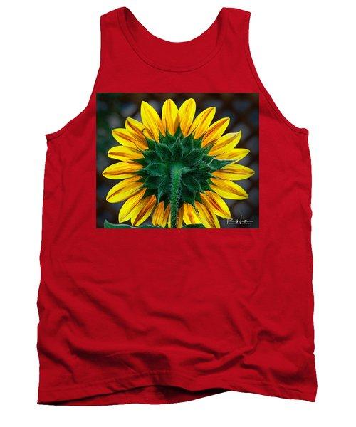 Back Of Sunflower Tank Top