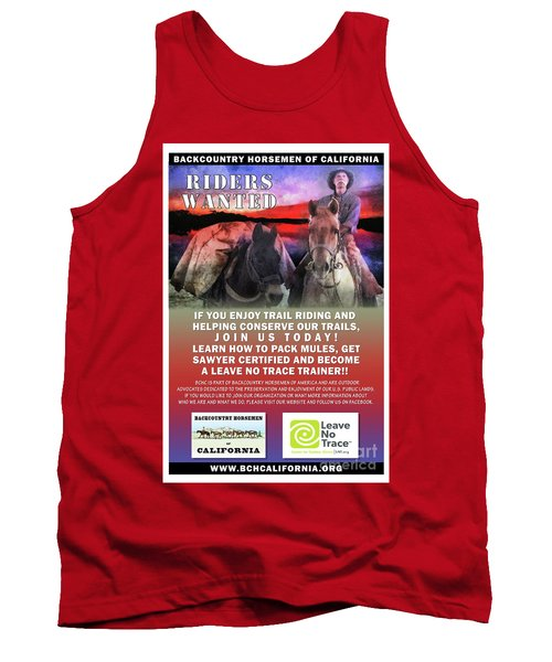 Backcountry Horsemen Join Us Poster II Tank Top