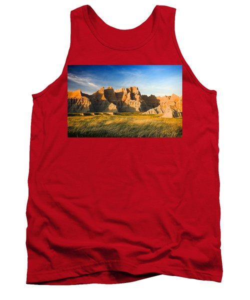 Tank Top featuring the photograph Badlands In Late Afternoon by Rikk Flohr