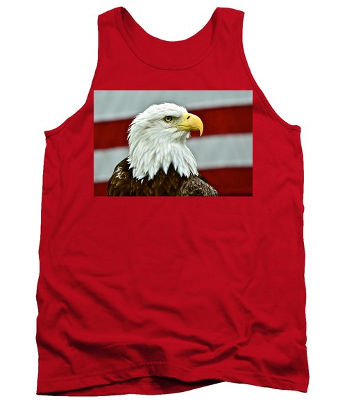 Bald Eagle And Old Glory Tank Top
