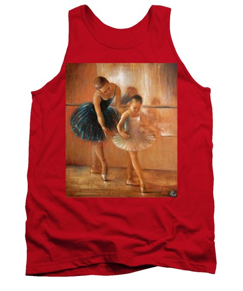 ballet lesson-painting on leather by Vali Irina Ciobanu  Tank Top