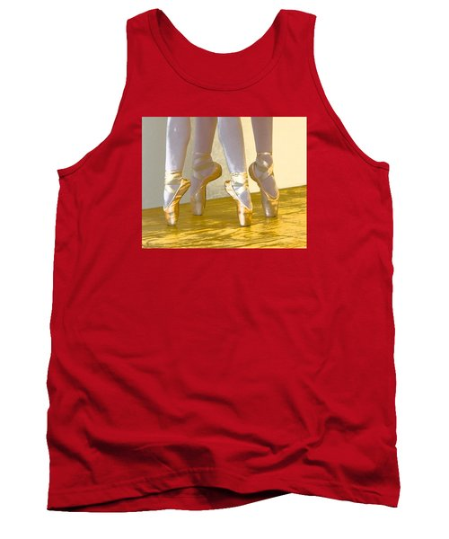 Ballet Second Position In Gold Tank Top