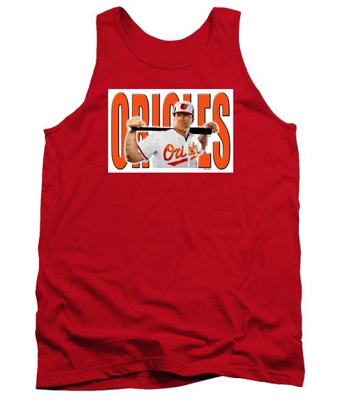 Tank Top featuring the digital art Baltimore Orioles by Stephen Younts