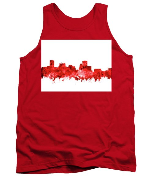 Tank Top featuring the painting Baltimore Skyline Watercolor 7 by Bekim Art