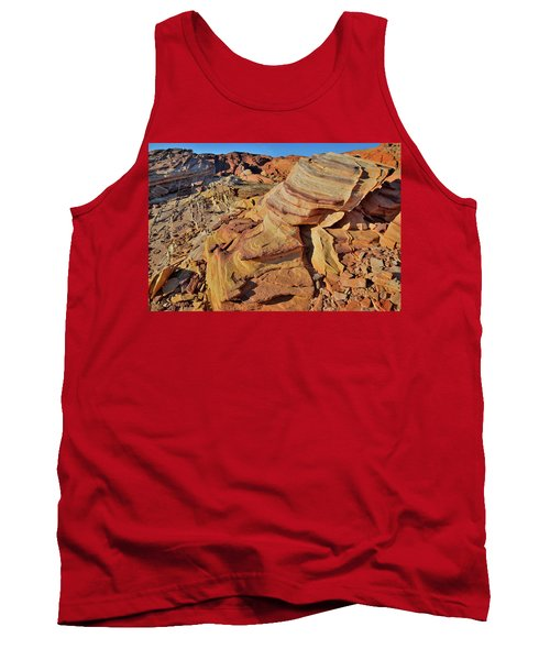 Bands Of Colorful Sandstone In Valley Of Fire Tank Top